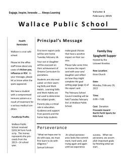 Newsletter - Wallace Public School