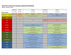 2015 IETA Conference Schedule (updated 01/30/2015)