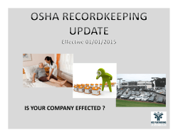 OSHA Recordkeeping Changes 2015