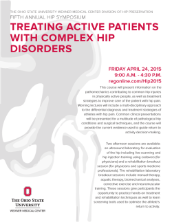 treating active patients with complex hip disorders