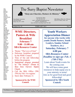 The Surry Baptist Newsletter