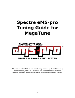 Spectre eMS-pro Tuning Guide for MegaTune