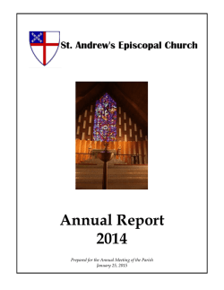 Annual Report 2014 - St. Andrews Episcopal Church in Arlington, VA