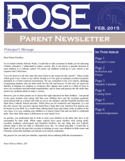 February Parent Newsletter - Saint Rose Catholic School