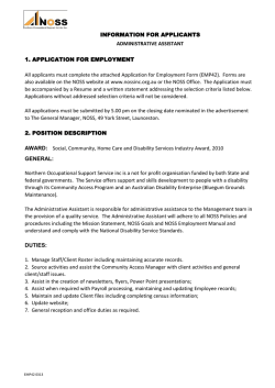 Application for Employment - Northern Occupational Support