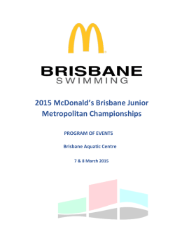 2015 Brisbane Junior Metropolitan Champs