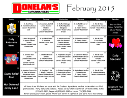 View Donelans Delicious Daily Kitchen Specials!