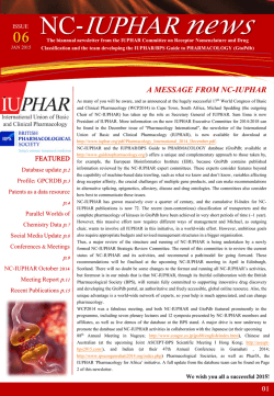NC-IUPHAR newsletter - Guide to Pharmacology