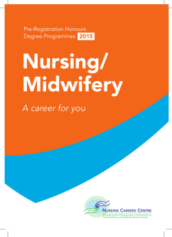 Nursing/Midwifery - A career for you 2015