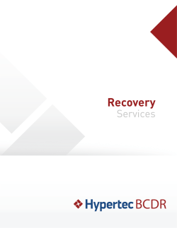 Hypertec BCDR Recovery Services Brochure