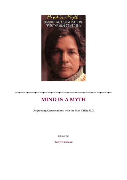 U.G. Krishnamurti – Mind is a myth