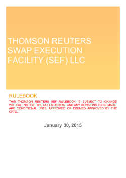thomson reuters swap execution facility (sef) llc