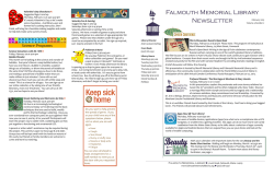 Falmouth Memorial Library Newsletter