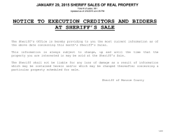 Previous Real Estate Sale Listing in Township Order