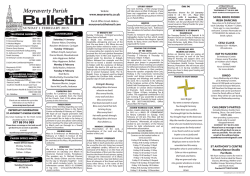 Bulletin - Parish of Moyraverty