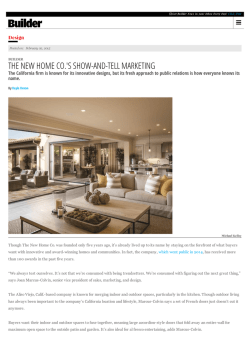 Builder Magazine - The New Home Company