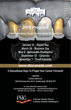 Download 2015 DTA Program - Dental Technology Academy