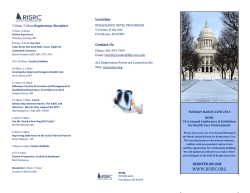 RISRC Program Brochure 2015 (pdf)
