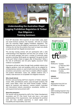 event flyer - Timber Due Diligence