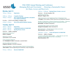35th USSD Annual Meeting and Conference Managing Risk and