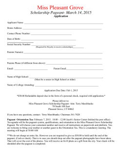 the 2015 application - Pleasant Grove Strawberry Days