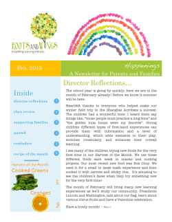 Current Newsletter - Roots and Wings Preschool