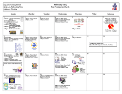 February Calendar - First Presbyterian Church