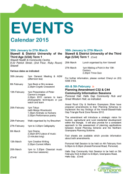 Events Calendar February 4th - Northern Grampians Shire Council