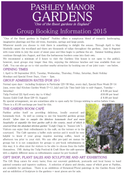 Group Booking Information 2015 for website.pub