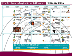 February 2015 - Friends of the Pacific Beach Library