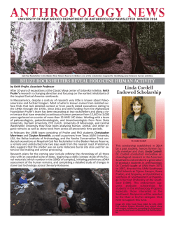Newsletter - Anthropology - University of New Mexico