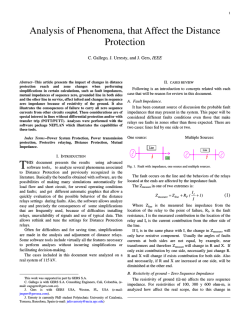 Analysis of Phenomena, that Affect the Distance Protection