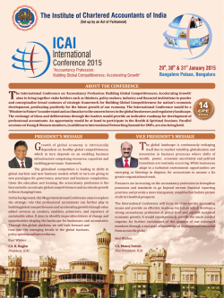 Programme Structure - ICAI International Conference 2015
