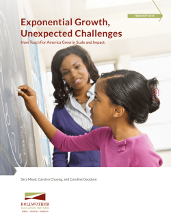 new report - Bellwether Education Partners