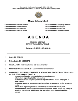 Council agenda - City of Pasadena