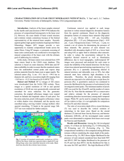 Characterization of Lunar Crust Mineralogy with M