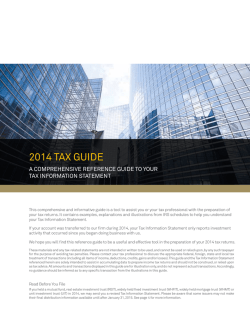 Download the 2014 Tax Guide