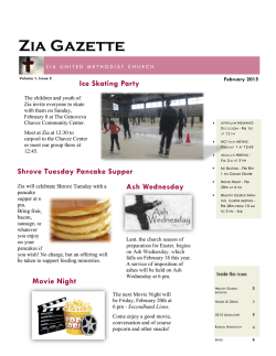 Zia Gazette - Zia United Methodist Church