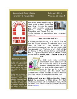 Kennebunk Free Library February 2015 Monthly E