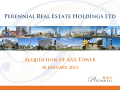 Acquisition of AXA Tower - Perennial Real Estate Holdings Limited