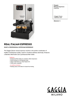 RI9403/11 Gaggia Manual Espresso machine