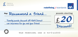 Recommend a friend... Discount! - AXA Insurance Northern Ireland