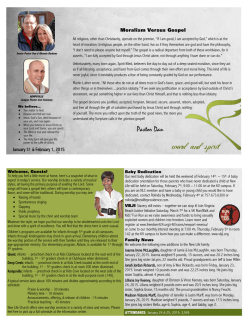 Weekly Bulletin - New Life Providence Church