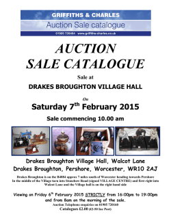 AUCTION SALE CATALOGUE