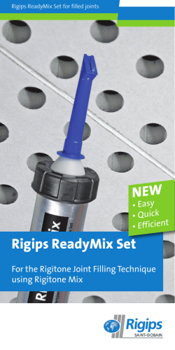 Rigips ReadyMix Set NEW