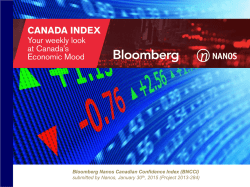 Canadian Confidence Index week ending