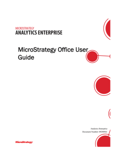 MicroStrategy Office User Guide