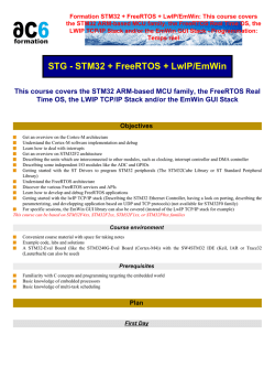 Formation STM32 + FreeRTOS + LwIP/EmWin: This - Ac6