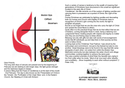 The February 2015 edition of - Boston Spa Methodist Church