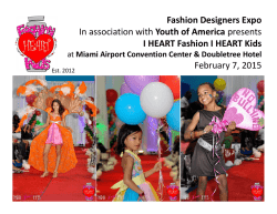 Fashion Designers Expo In association with Youth of America
